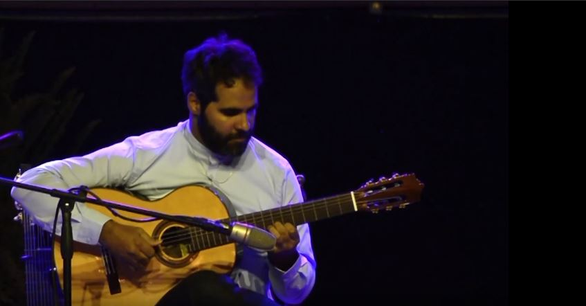 Live Oriental Guitar Music In The International Sephardi Music Festival in Córdoba, Spain.